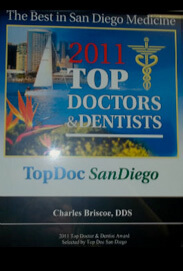 2011 Top Doctors & Dentists in San Diego - Charles Briscoe DDS