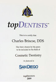 Top Dentists San Diego 2009 for Cosmetic Dentistry - Charles Briscoe, DDS