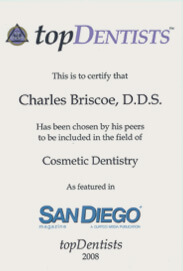 Top Dentists San Diego 2008 for Cosmetic Dentistry - Dr. Charles Briscoe